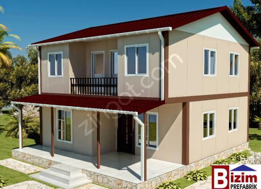 ÇİFT KATLI PREFABRİK EV FİYATLARI, DUBLEX  PREFABRİK EV  131 m2