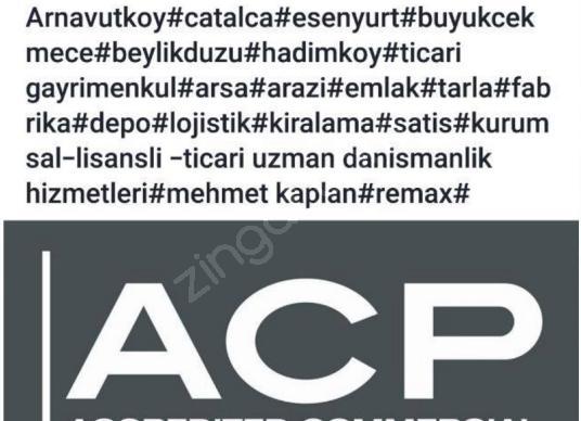 HADIMKÖY DE ACİL TİCARİ(DEPOLAMA) İMARLI CADDEDE NET FIRSAT ARSA