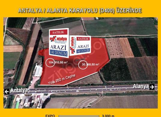 ANTALYA-BELEK ANA YOL ÜZERİ EXPO 3km-135 DÖNÜM-250m YOL CEPHELİ - Kat Planı