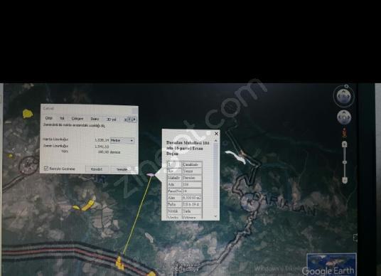 Yenice Darıalan Köyü'de Satılık Tarla - Harita