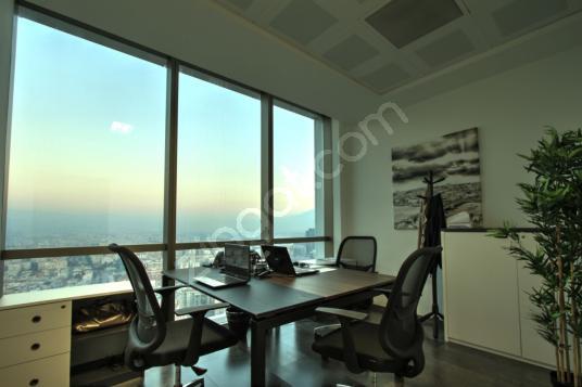 FOLKART TOWERS'TA 2 KİŞİLİK ŞEHİR MANZARALI KOMİSYONSUZ OFİS - Salon