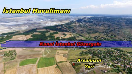 Yeniköyde İstanbul Havalimanı karşısında 252m2 Tepede Tek Tapulu