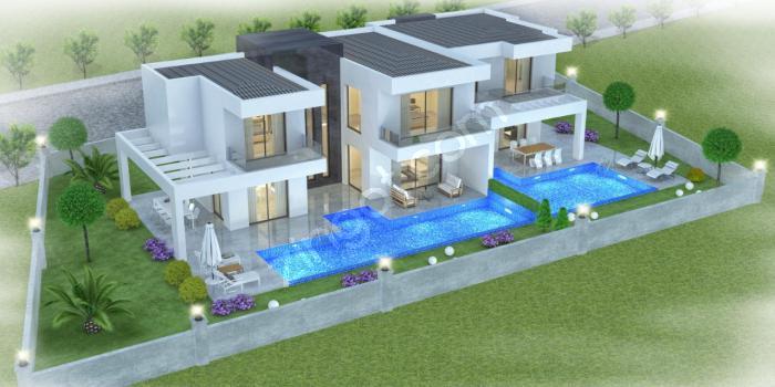 Mutlu İnşaat'dan Güzelçamlı'da Projeden Satılık Ultra Lüks Villa