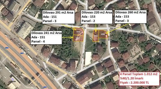 Dilovası Mimar Sinan'da Merkezi Lokasyonda Satılık 1.012 m2 Arsa