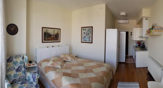 ŞADOĞLU GAYRİMENKUL ' DEN ELİT GRAND PALAS 1+0 EŞYALI DAİRE - Yatak Odası