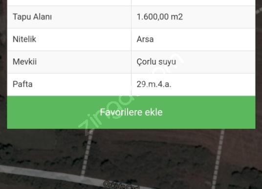 Çerkezköy Fatih'de Satılık Çok Amaçlı arsa - Kat Planı