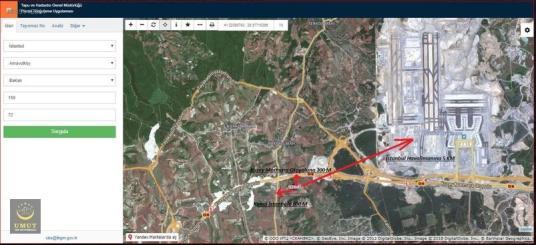 Baklalı'da Tüm Projelerin Ortasında 201m2 Tarlamız Satılıktır.. - Harita