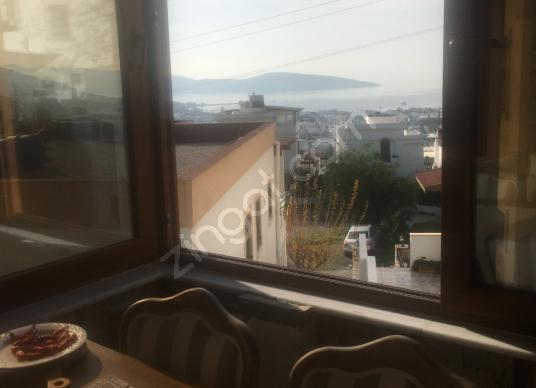 BODRUM MERKEZ YOKUŞBAŞINDA DENİZ MANZARALI SATILIK DAİRE - Balkon - Teras