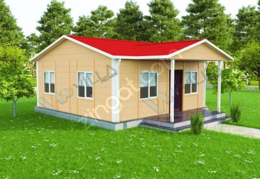 45 m² TEK KATLI 2+1 PREFABRİK EV