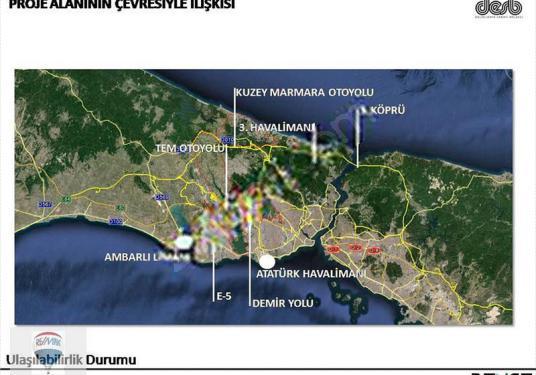 Arnavutköy-Hadımköy de acil ticari caddede fırsat kiralık arsa - Harita