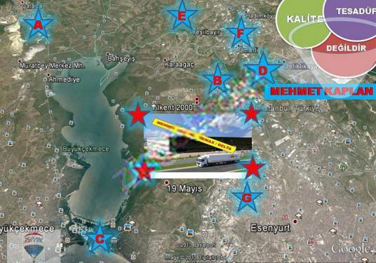 Arnavutköy Hadımköy 'de sanayi imarlı acil fırsat arsa-4 10000m2 - Harita