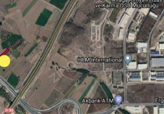 İZMIR AĹİAĞA GÜZELHİSARDA  4680 M2 YOLA SIFIR SATILIK ARSA - Harita