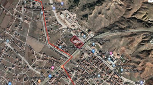 AKSARAY MERKEZ DE SATILIK ARSA 14.000 m2 AKARYAKIT FABRİKA OTEL - Harita
