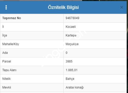 KOCAELİ/ KARTEPE/ MAŞUKİYE DE 2650 M2 SATILIK ÇİFT PARSEL MANZAR - Kat Planı