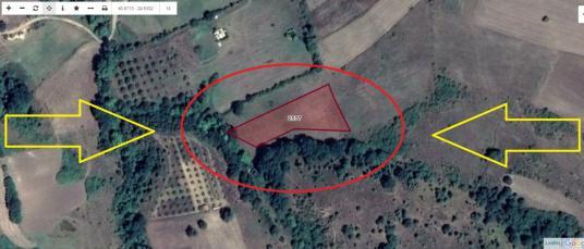 Kocaeli Karamürsel Kızderbent'te Satılık 3561 M2 Tarla - Harita