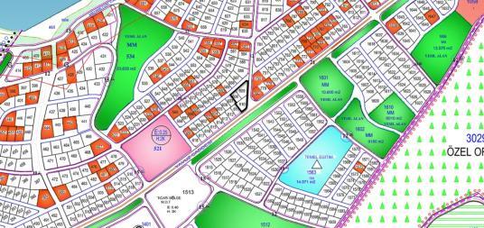 RiVA'DA ANACADDE ÜZERİ KÖŞE KONUMLU 1762 m2 3 PARSEL. - Harita