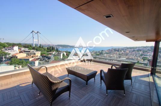 Ulus 'ta Satılık Boğaz Manzaralı Geniş Teraslı 4+2 Çatı Dubleksi - Balkon - Teras