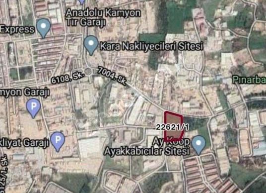 12417 square meters Warehouse For Rent in Bornova, İzmir - Harita