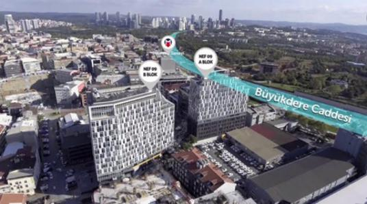 Nef 09 Plazada Satılık Ofis Kiracılı Plaza Ofisi 54m2 Merkezi - Site İçi Görünüm