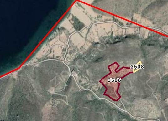 DATÇA YAZI'DA SATILIK 41000m2 DENİZ MANZARALI TARLA  BADEMLİK - Harita