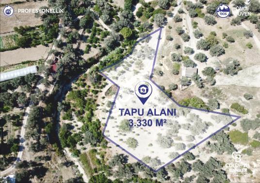 İzmir Karaburun İnecik'te Deniz Manzaralı Yatırıma Uygun Tarla - Harita