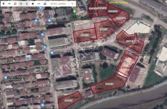 Körfez Satılık Ticari İmarlı İzmit, 42 Evlerde 2118m2 Ticari Ala - Harita