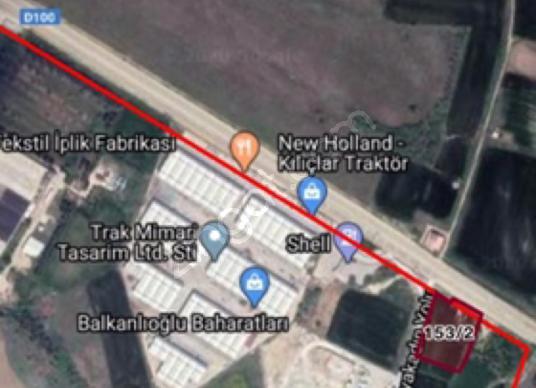 E5 yol üzeri 4900 m2 imarlı arsa