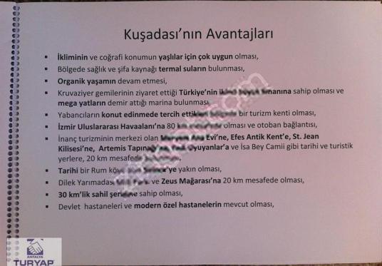 Kuşadasında Satılık Projeli Arsa - Kat Planı