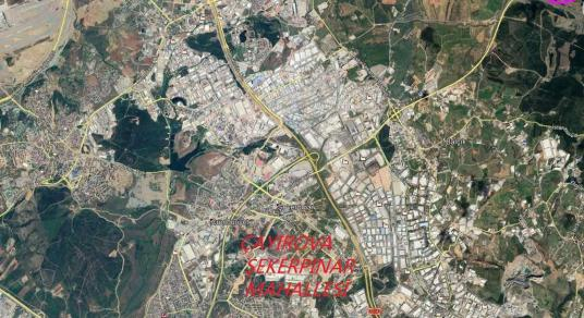 ÇAYIROVA ŞEKERPINAR DA 8.383 M² KİRALIK ARSA BURADA