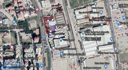 gaziemir akçay caddesi üzeri kiralık değerli mülk - Harita