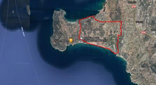 Çeşme Altınkumda Deniz gören satılık Tarla - Harita