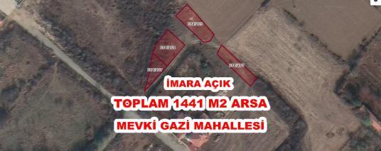 GİRİŞİMCİ'DEN AKŞEHİR GAZİ MAH.DE TOPLAM 1441 İMARA AÇIK ARSALAR