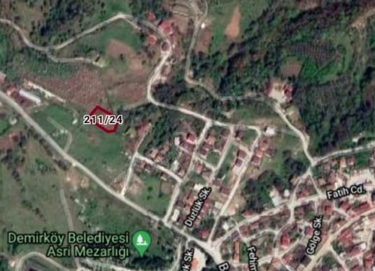 Demirköy Orhaniye Mahallesi Balaban Yolu üzeri imarlı tarla - Harita