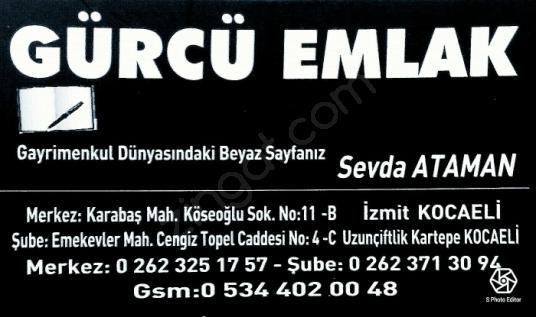 Kocaeli Köseköy İstasyonda 2+1 85 m² amerikan mutfak 250.000 TL - Logo