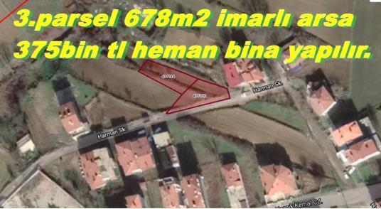 Tekirdağ Malkarada Kaçmazdan Satılık  3 Parsel 678m2 İmarlı Arsa