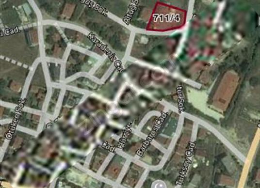 CELALİYE MERKEZDE 4 KAT İMARLI DENİZ MANZARALI ARSA - Harita