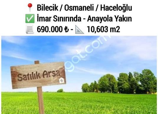 Bilecik - Osmaneli'de Yatırımlık 10,6 Dönüm Arazi | Konut Pazar