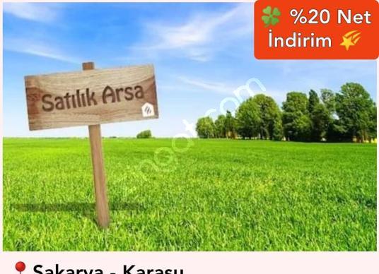 Sakarya Karasu'da Anayol Cepheli Ticari İmarlı Arsa   KonutPazar