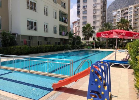 Konyaaltı Sarısu'da Satılık Rezidans 1+1 katta ful eşyalı - Yüzme Havuzu
