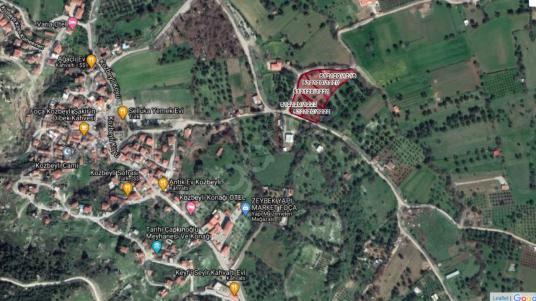 İzmir Foça Kozbeyli'de SATILIKMücavir Alan İçinde İmarlı Arsalar - Harita