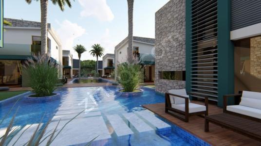 Kuşadası Güzelçamlı'da 3+1 ve 4+1 seçeneklerle Satılık Villalar - Yüzme Havuzu