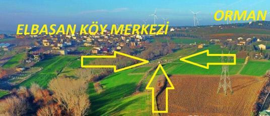 Elbasan'da köye yakın 1/1000 plan 250 m2 çaplı, muaffakatnameli. - Arsa