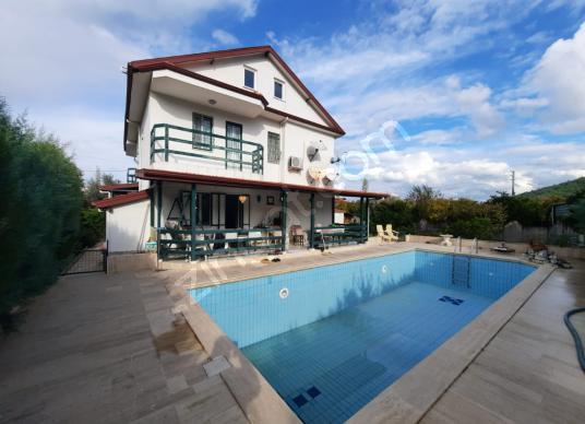 Ortaca Okçular da satılık yüzme havuzlu 3 katlı müstakil ev - Yüzme Havuzu