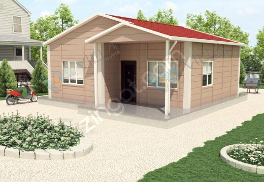 62 m² TEK KATLI 2+1 PREFABRİK EV