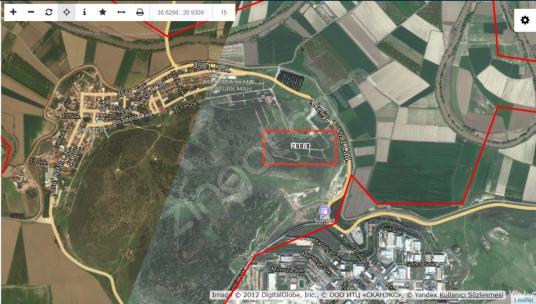 Menemen Maltepe Serbest Bölge Yakını Villalık İmarlı Arsa - Harita