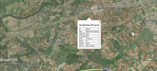 İNCEOĞLUNDAN ADA'DA OTOBANA YAKIN YATIRIMLIK SATILIK ARAZİ - Harita