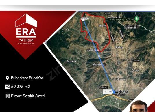 Buharkent Ericekte 69.375 m2 Fırsat Arazi - Harita