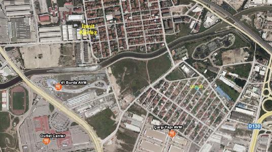 ESKİDJİ'DEN İZMİT SANAYİ MAH. TİCARİ+KONUT İMARLI 175M2 SATILIK - Harita