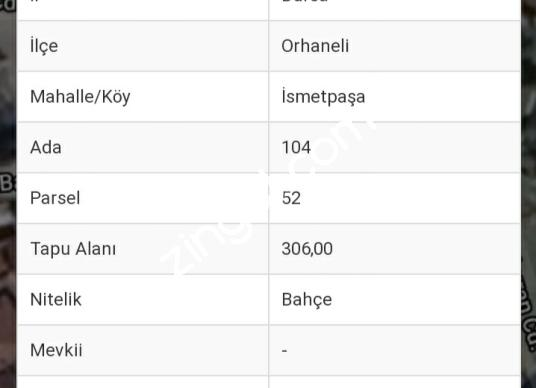 CB CLASS'TAN-ORHANELİ'NDE SATILIK İMARLI ARSA - Kat Planı