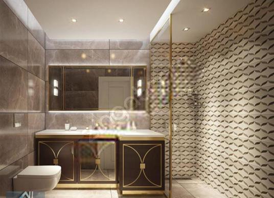 İSYUS* Kağıthane'nin En Gözde Yeni Projesinde Sıfır Rezidans 2+1 - Banyo